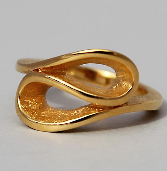 Silberring vergoldet | Infinity