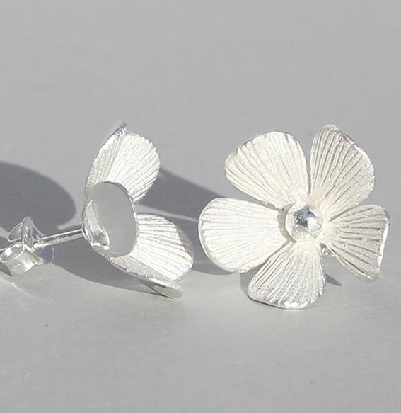 Silberohrstecker | Silberblüte